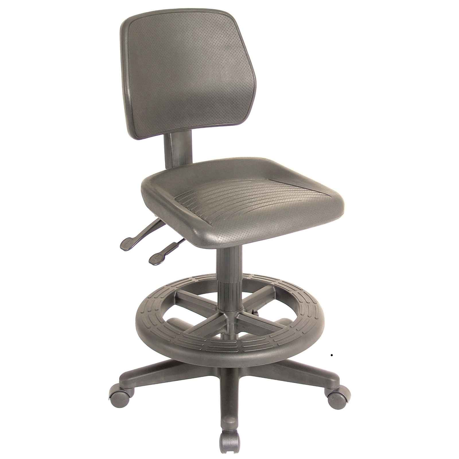 Leather Drafting Chair Stool for Extra Comfort : Industrial Brown Adjutable Height Drafting Chair from office-turn.com size 1600 x 1600 jpeg 65kB