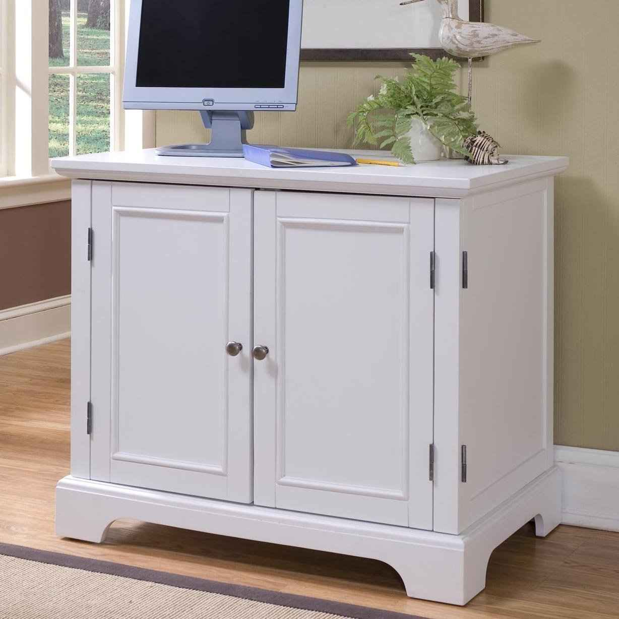 Napled home office white contemporary computer armoire