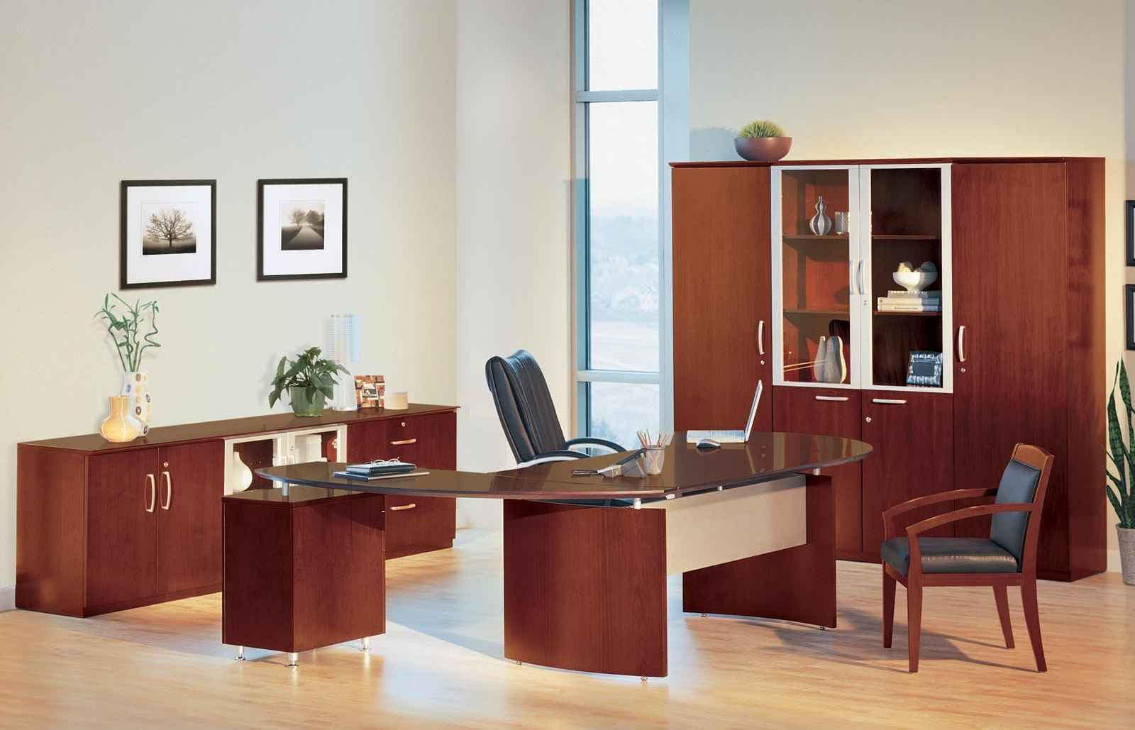 Napoli Executive Wooden Glass Office Suite Furniture