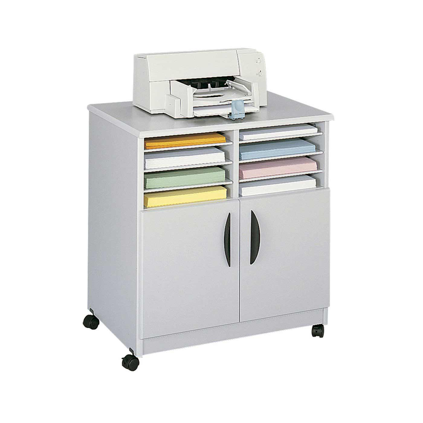 Safco White Mobile Printer Stand
