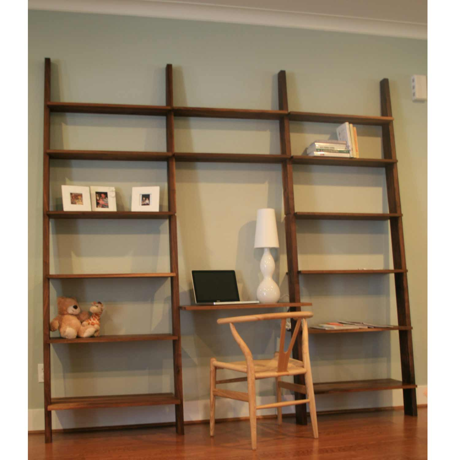 Leaning Wall Shelf Plans