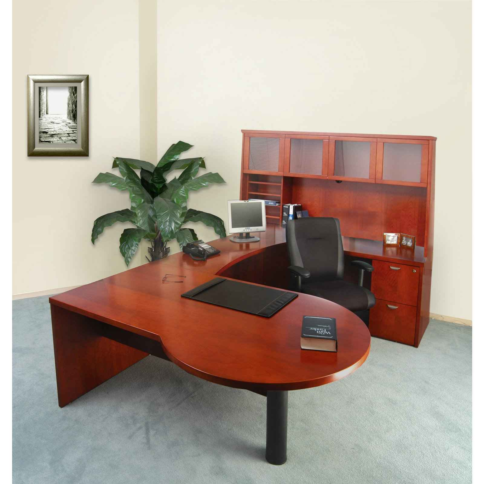 U-Shaped Executive Office Furniture Desk