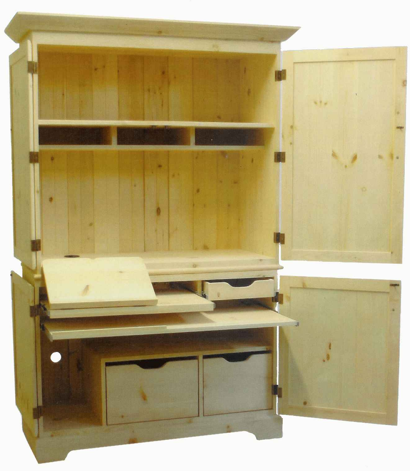 Pdf diy craftsman style computer desk plans download for Craftsman style desk plans