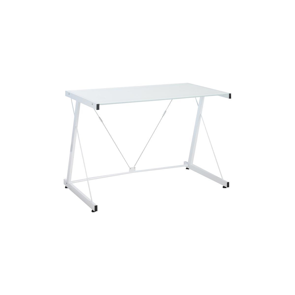 Carnac Modern White Standing Computer Desk