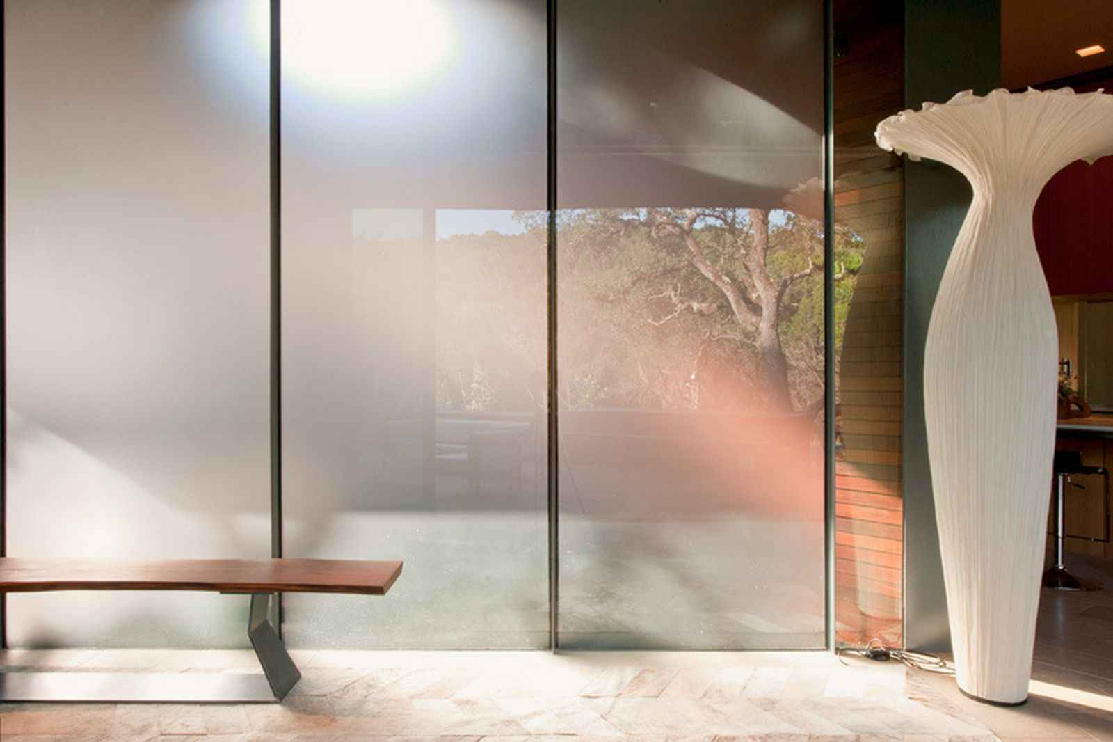 Cascading Sliding Glass Wall Panels