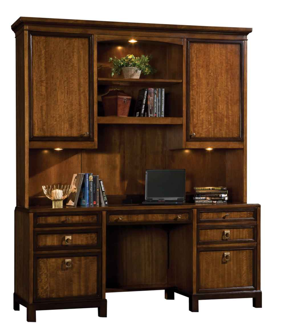 Classic Wooden Office Credenza Furniture with Hutch