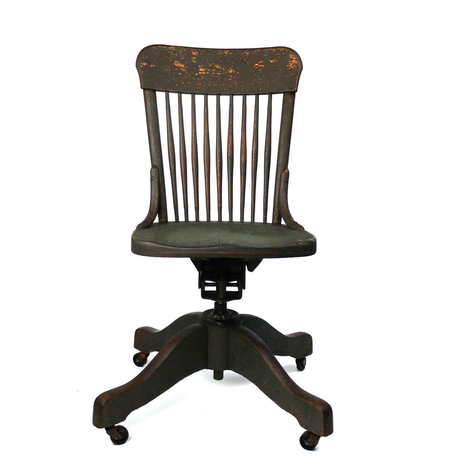 wood antique office chair for vintage look