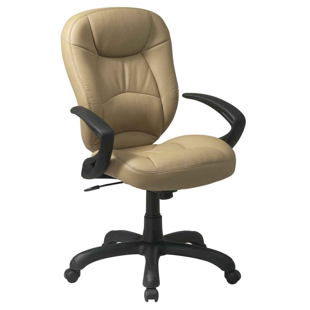Deluxe Faux Tan Leather Oversized Office Chairs