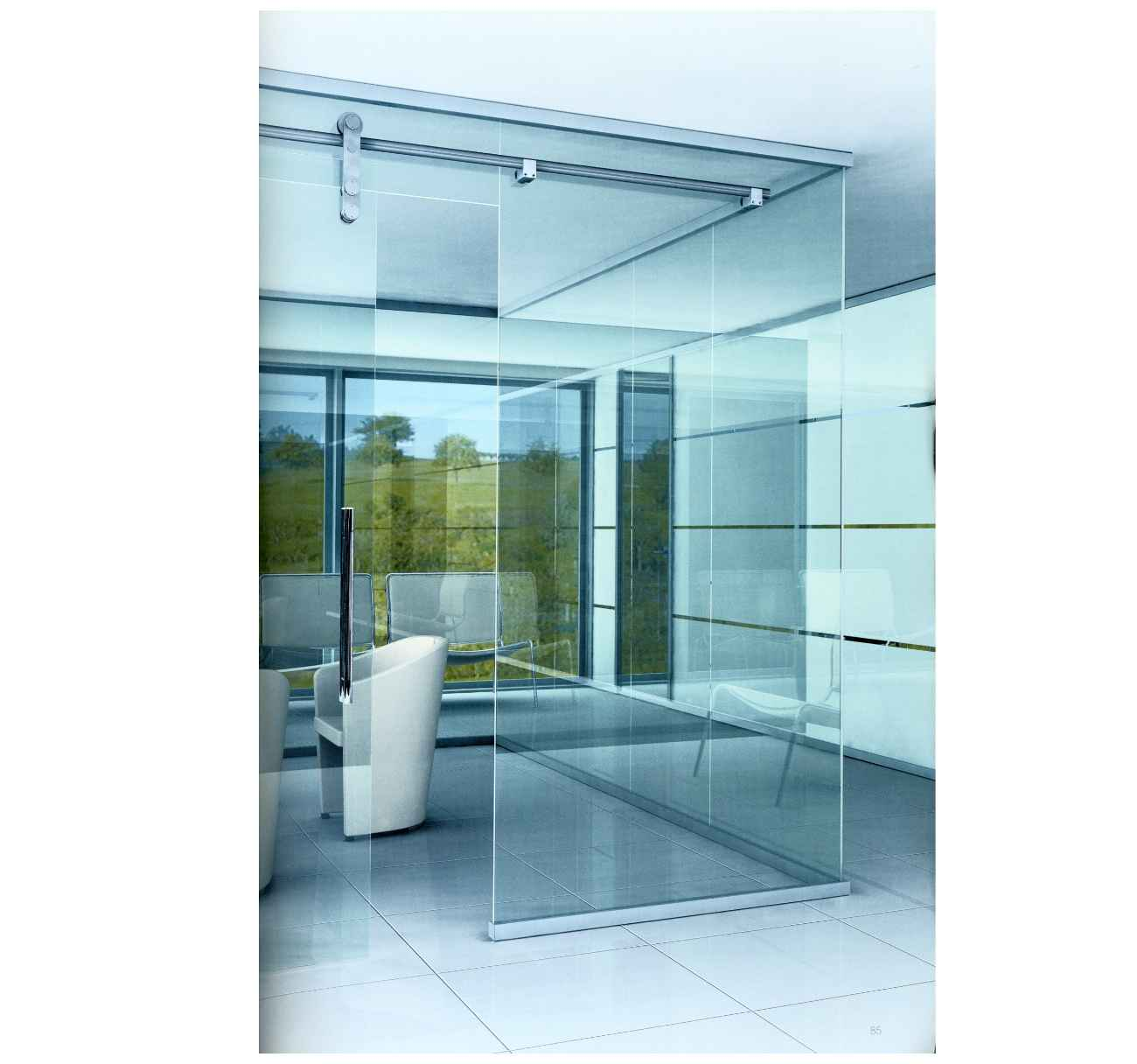 be used for sliding shower door or glass sliding office partition