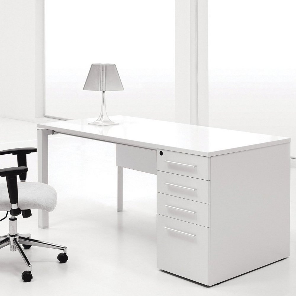 White computer desk with drawers for White desk with hutch ikea