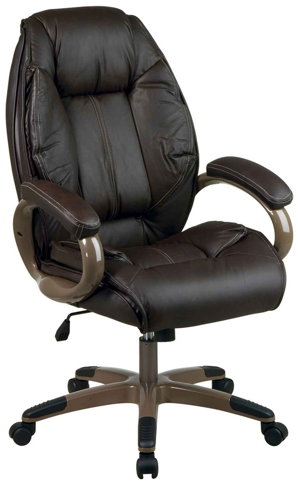 Computer Desk Chair Buying Guide : Executive adjustable espresso office computer chair from office-turn.com size 1000 x 1628 jpeg 57kB