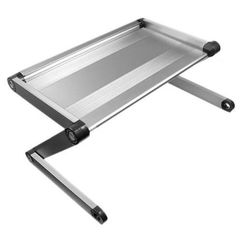 GTMax Adjustable Portable Aluminium Notebook Laidback in Silver