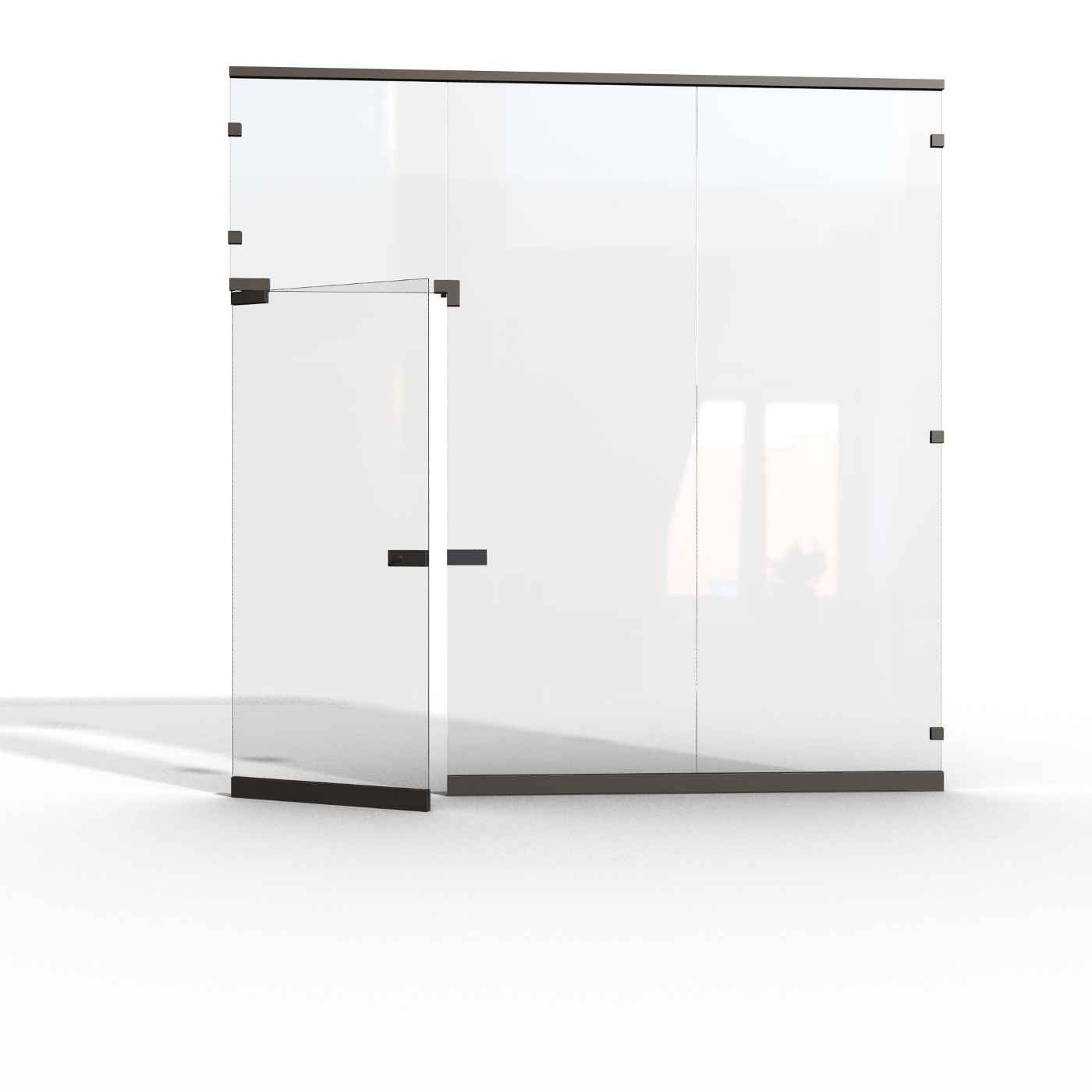 Glass walls partitions system ideas for Glass walls and doors