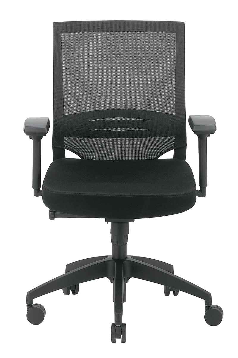 Kari Ergonomic Back Mesh Black Chair from Eurotech