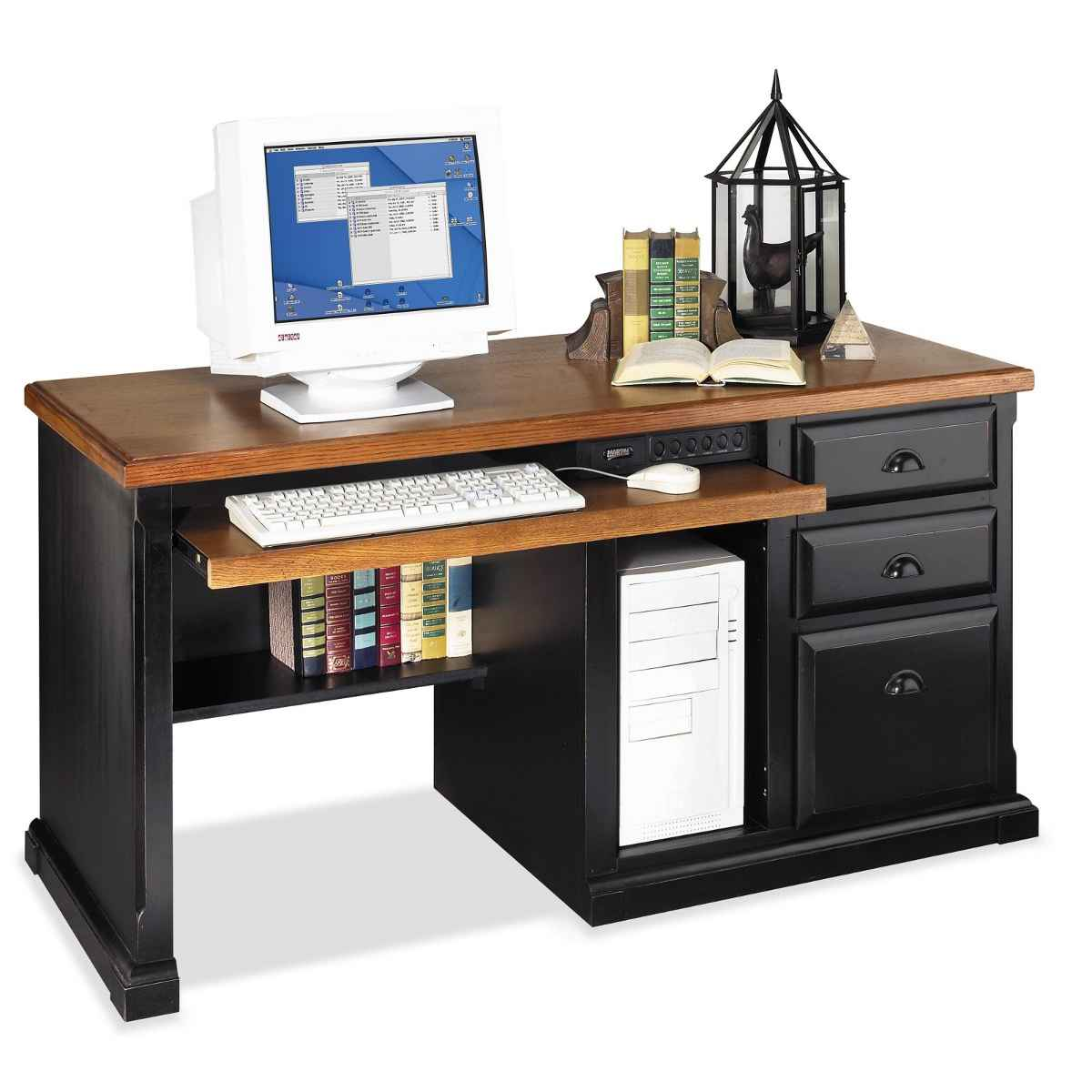 Kathy Ireland Southampton black desk for computer