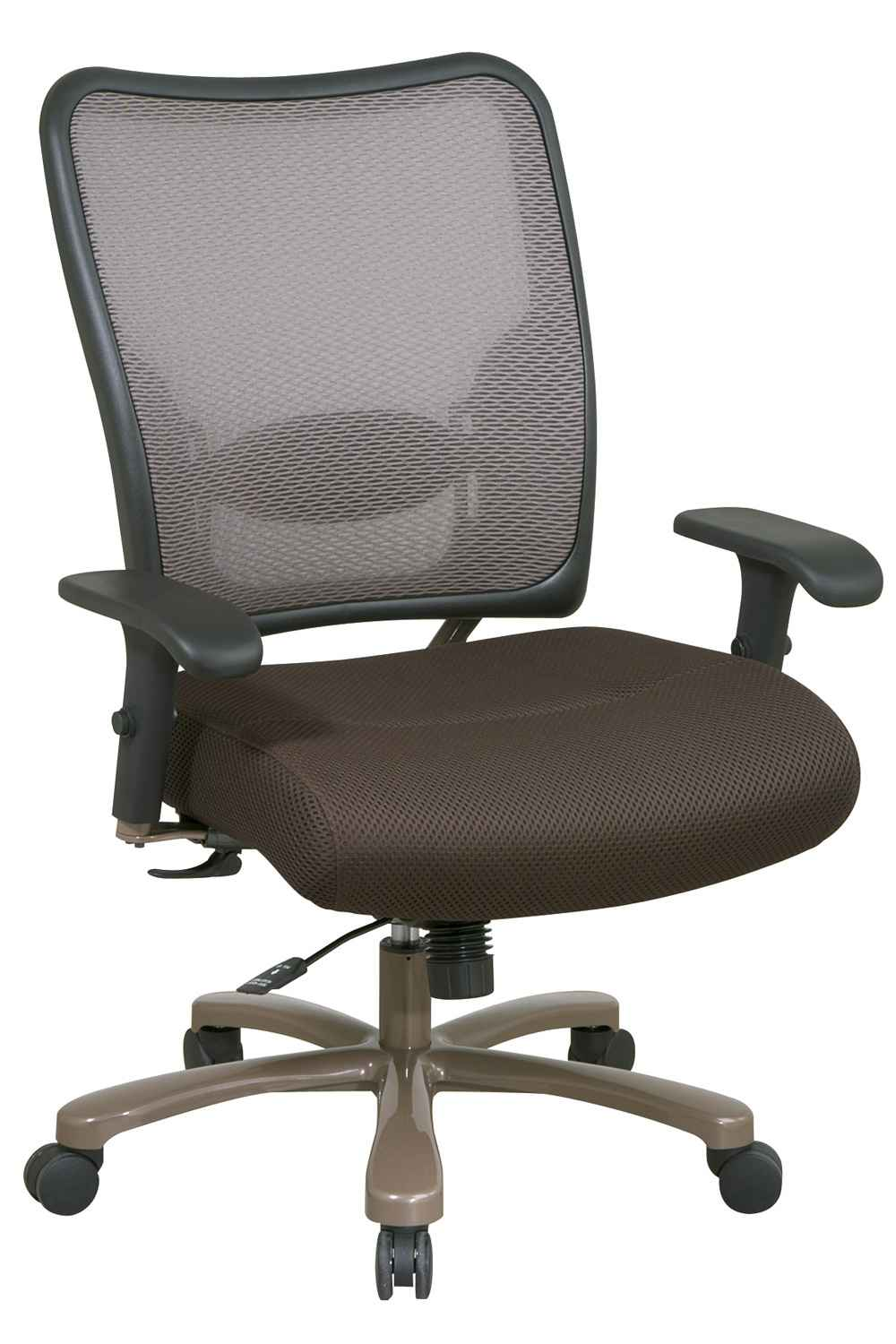 Latte Mesh Air Grid Office Chair for Big People