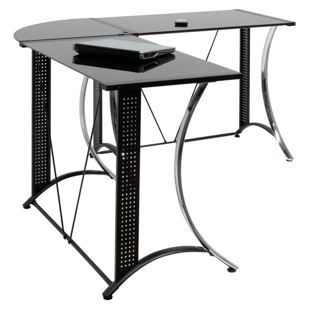 Monterey LS chrome and black corner desks