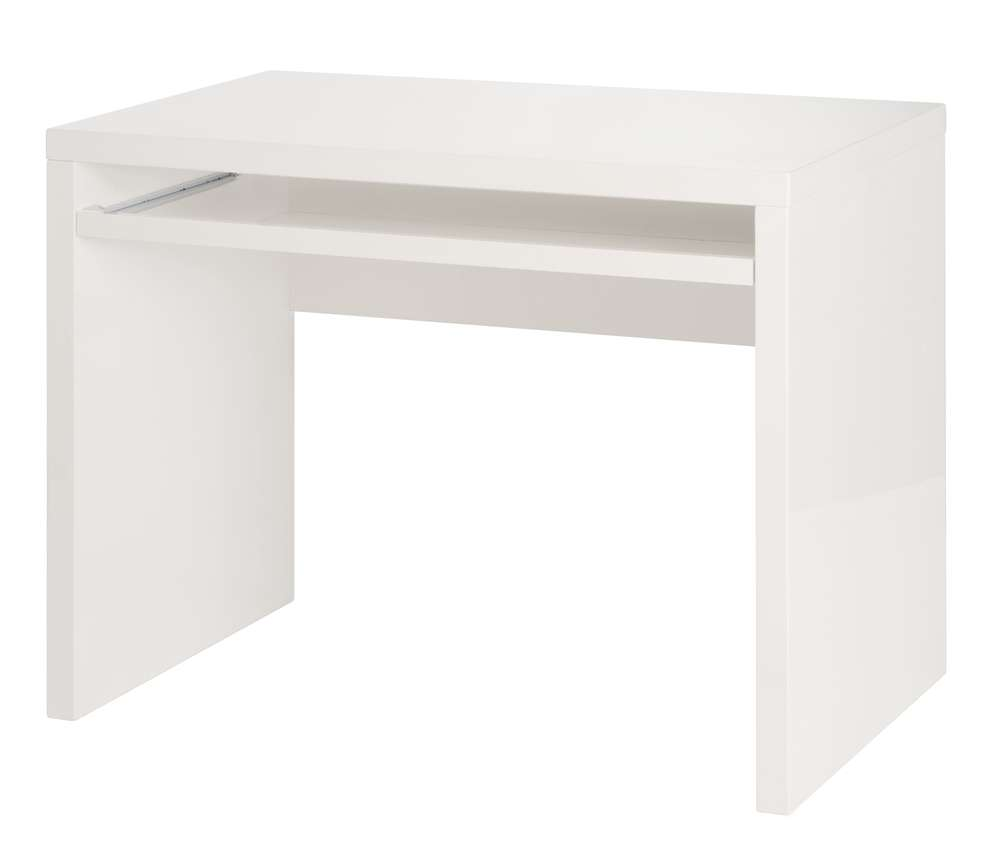 Orleans contemporary computer table in glossy white