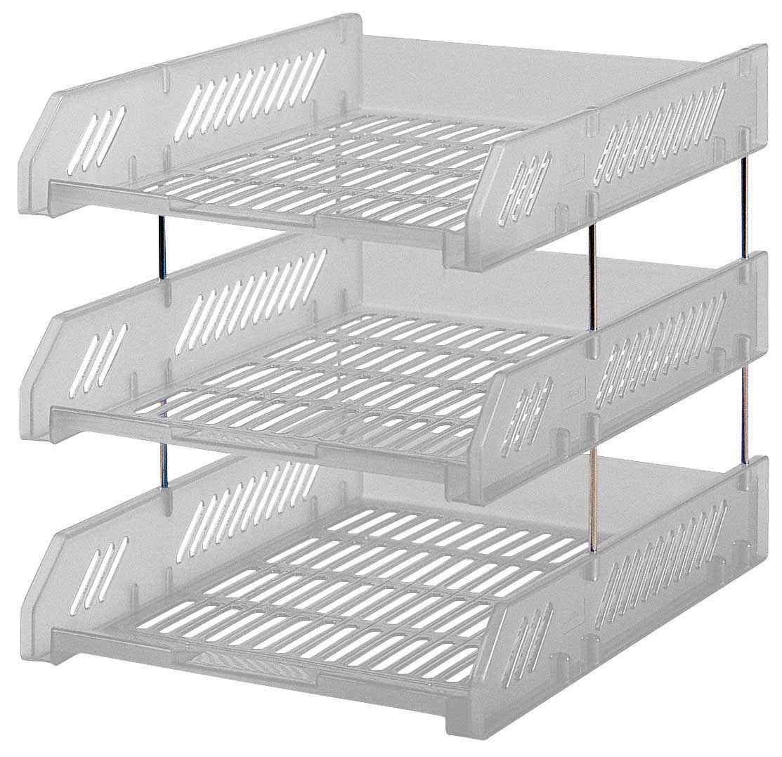 Plastic magazine rack holder in white