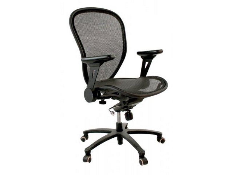 Stylish Regency Allure Black Mesh Computer Chair