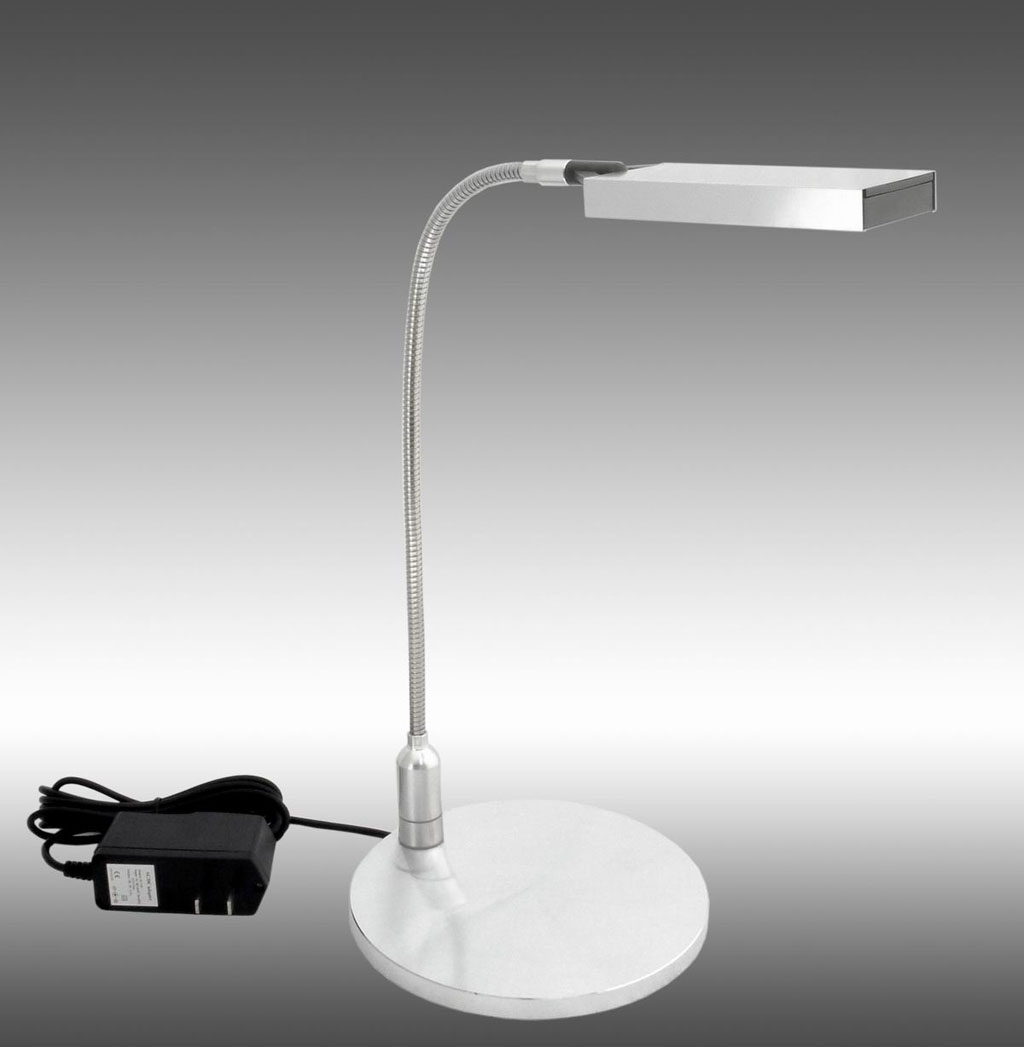work desk LED lamp in pearl white