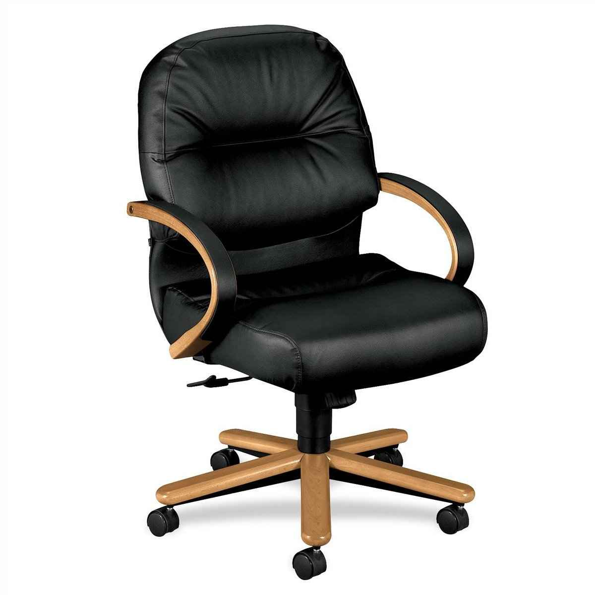 HON Soft MidBack Black Management Office Chair with Pillow