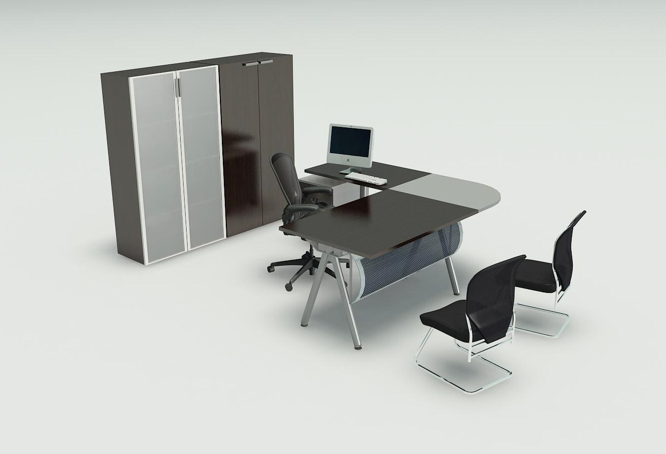 L Shaped Manager Desk and Chair Ideas