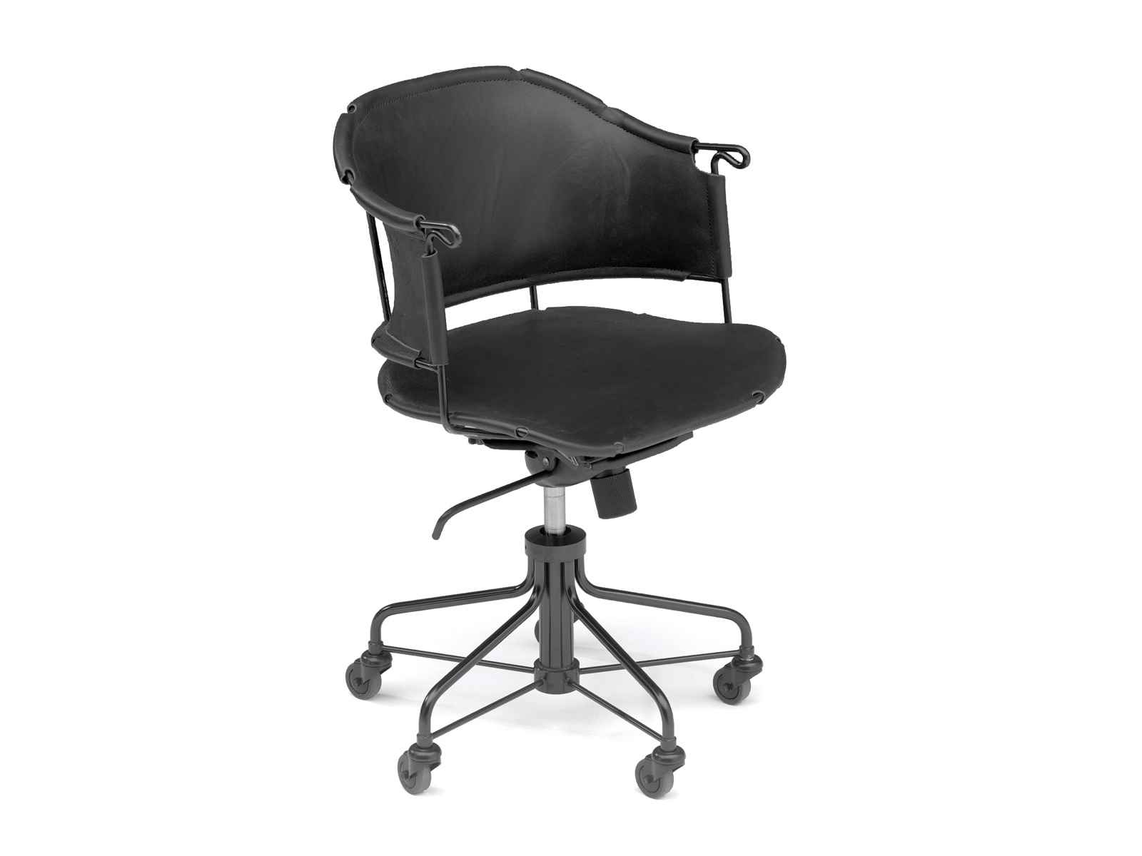 Sheriff Kallemo Black Swivel Chair with 5 Spoke Base