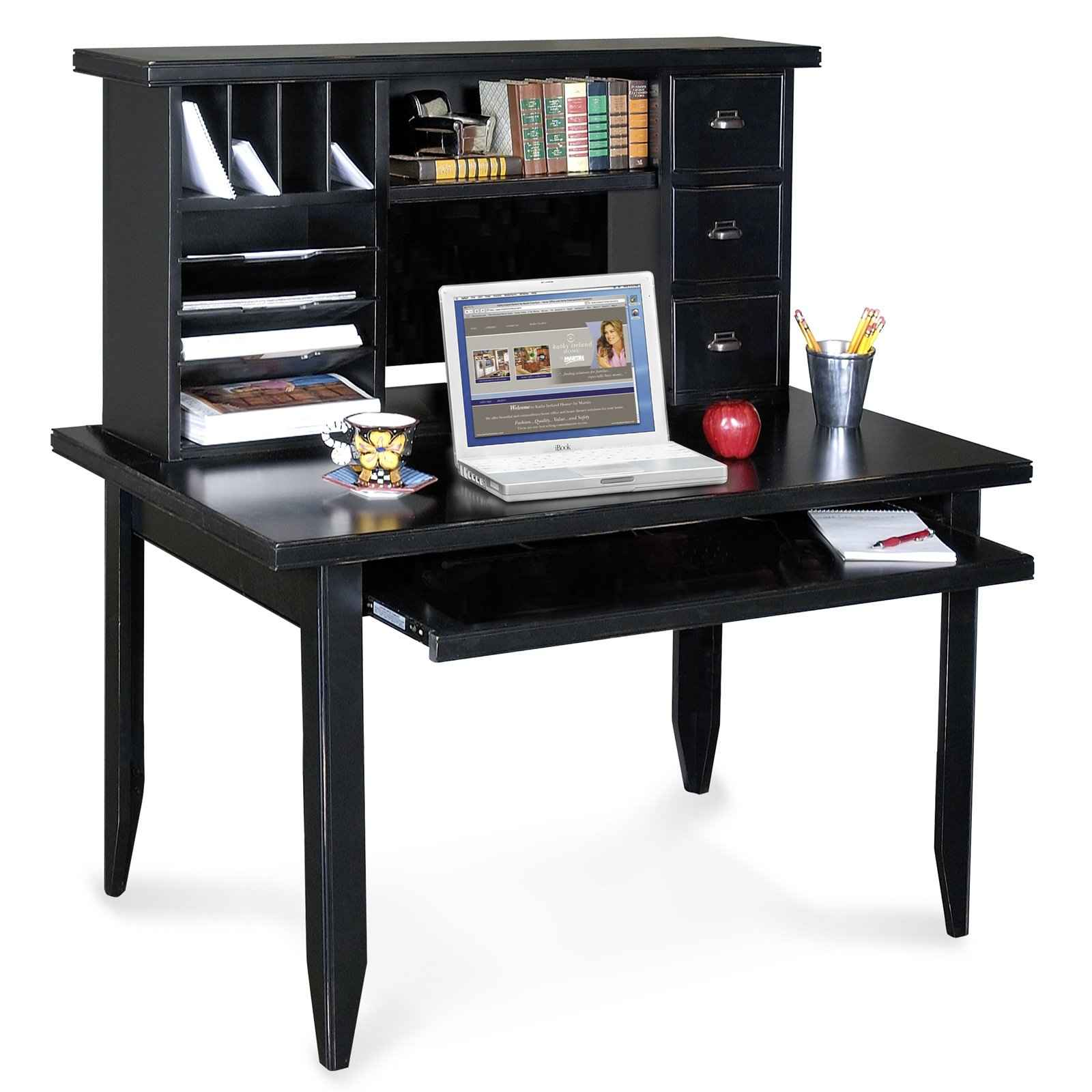 Tribeca black computer desk from Kathy Ireland