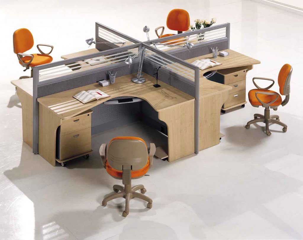 Office depot office furniture for Office desk layout ideas