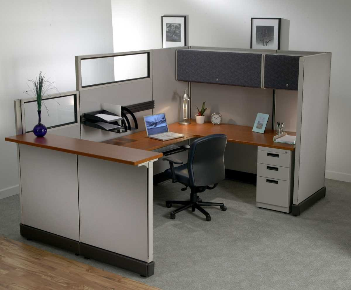 Office furniture cubicle decorating ideas for Modern office decor ideas