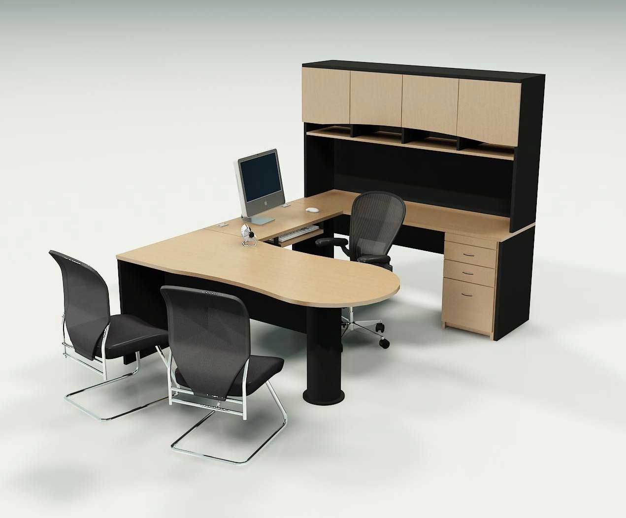 Best office desks office furniture for Simple office furniture design