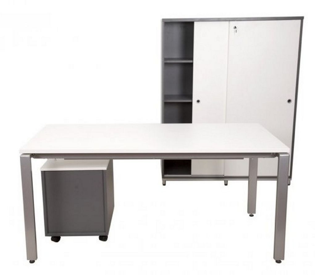 modern office desk and storage