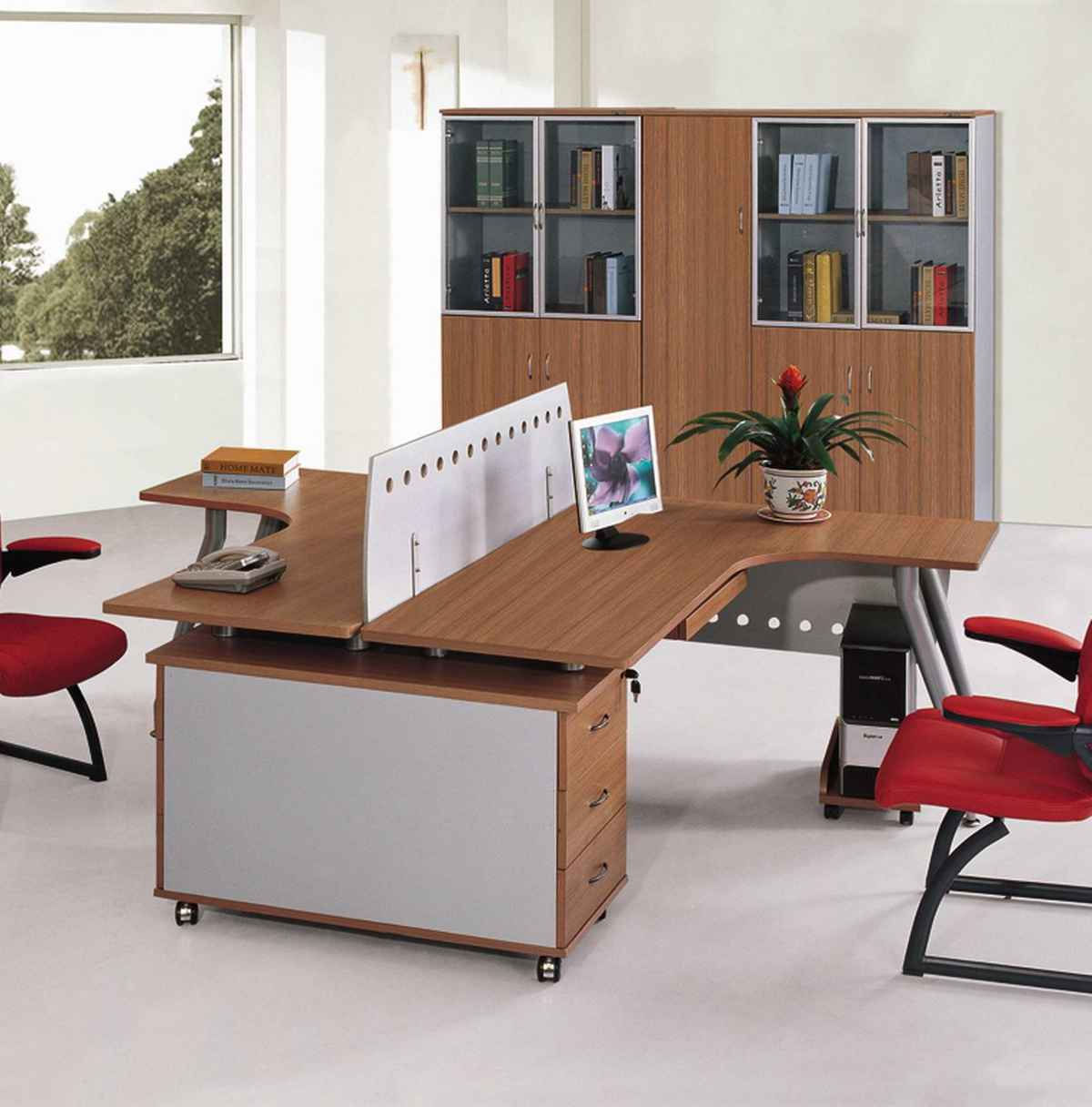 Modern office furniture ideas for convenient use - Modern home office furniture ...