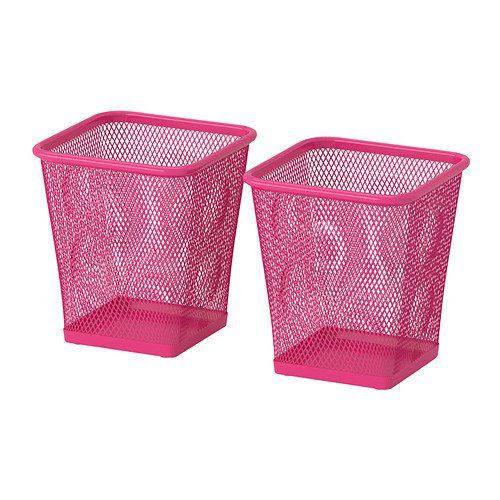 Ikea Steel Pencil Cup Pack of 2 Pink