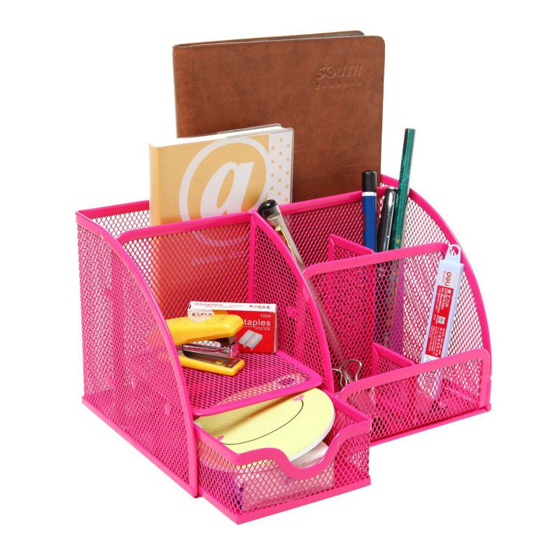 Pink desk organizers and accessories review - Pink desk organizer ...