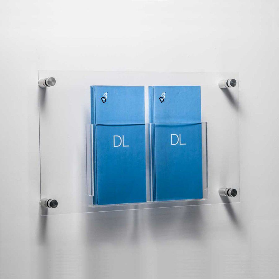 Acrylic DL sized literature wall mount pocket