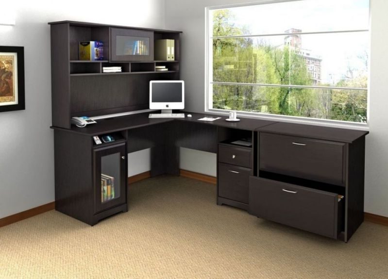 Large Corner Desk Home Office Decorating Schemes