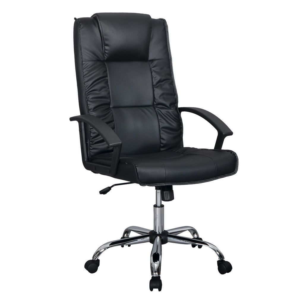 Black PU Leather Ergonomic High Back Executive Office Chair