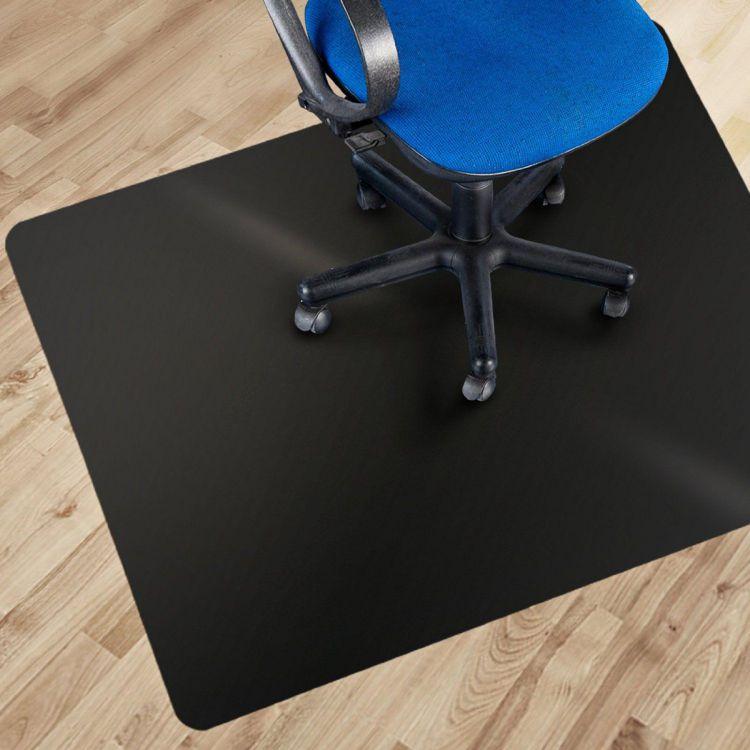 Black desk floor mat for carpet