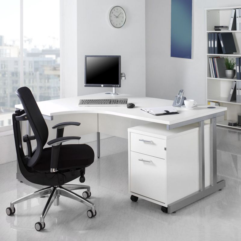 Benefit of using white office furniture collections - Home office desk furniture sets ...