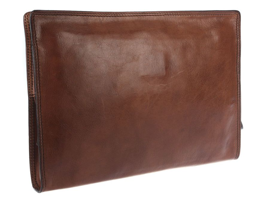 Brown Italian Leather Document Folio Holder