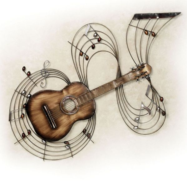 Brushed Bronze Traditional Music Wall Art