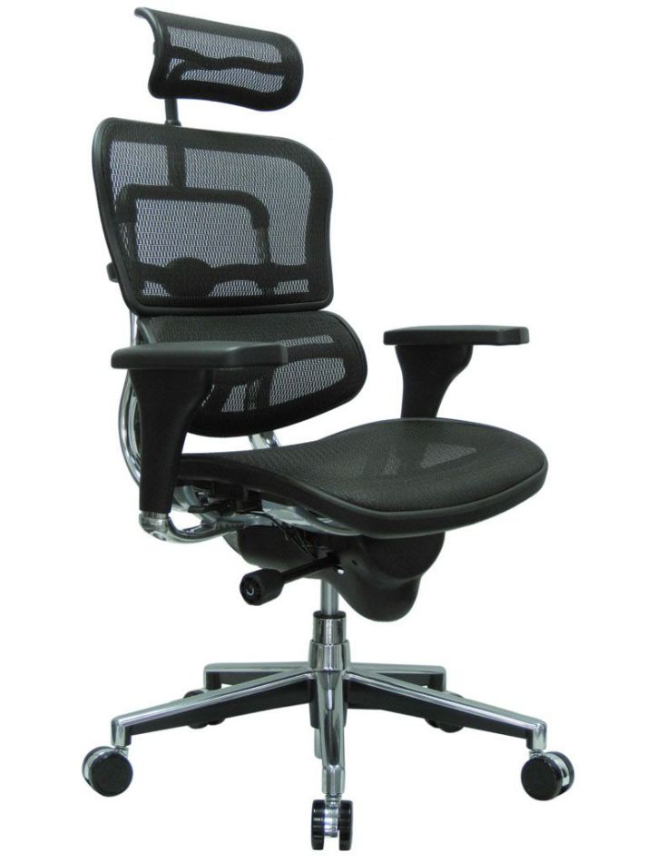 Ergonomic Black Mesh Office Computer Chair with Headrest