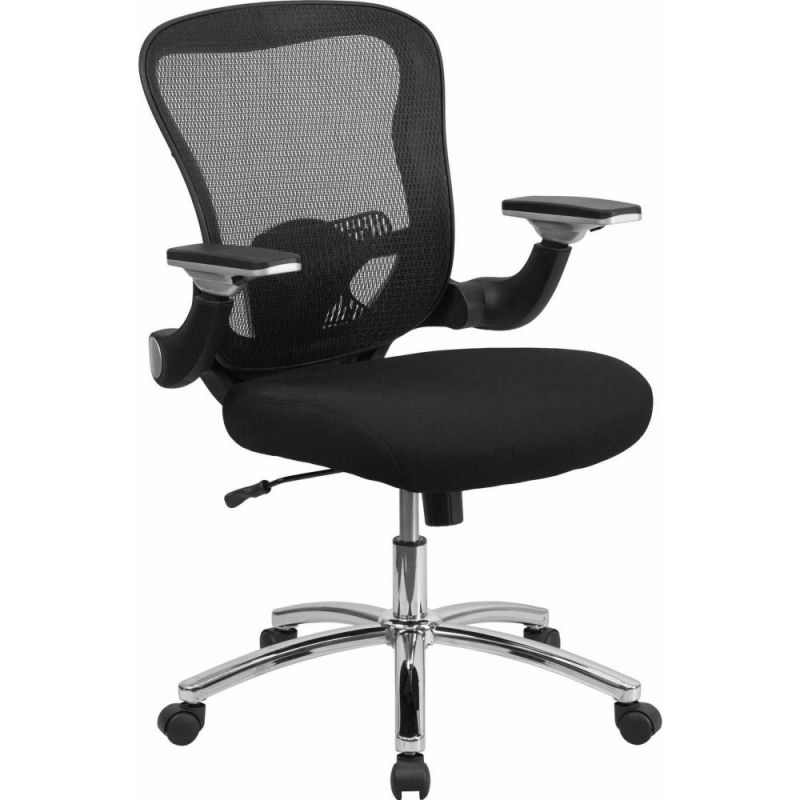 Flash Furniture Mid-Back Black Adjustable Height Mesh Executive Swivel Desk Chair