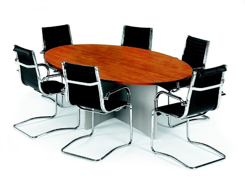 Merlin Oval Wooden Conference Table with 6 Chairs
