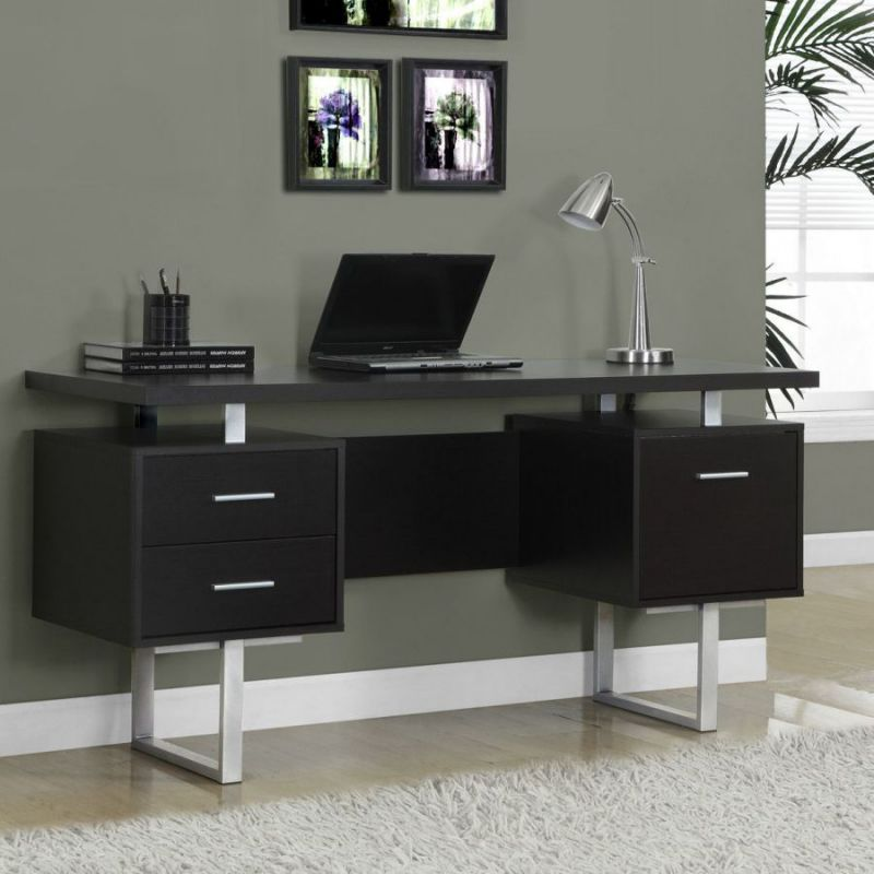 Narrow desks for small spaces saving - Office furniture small spaces set ...