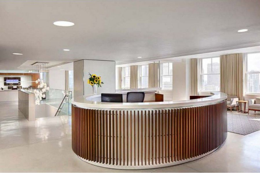 Round Reception Desk for Home Office