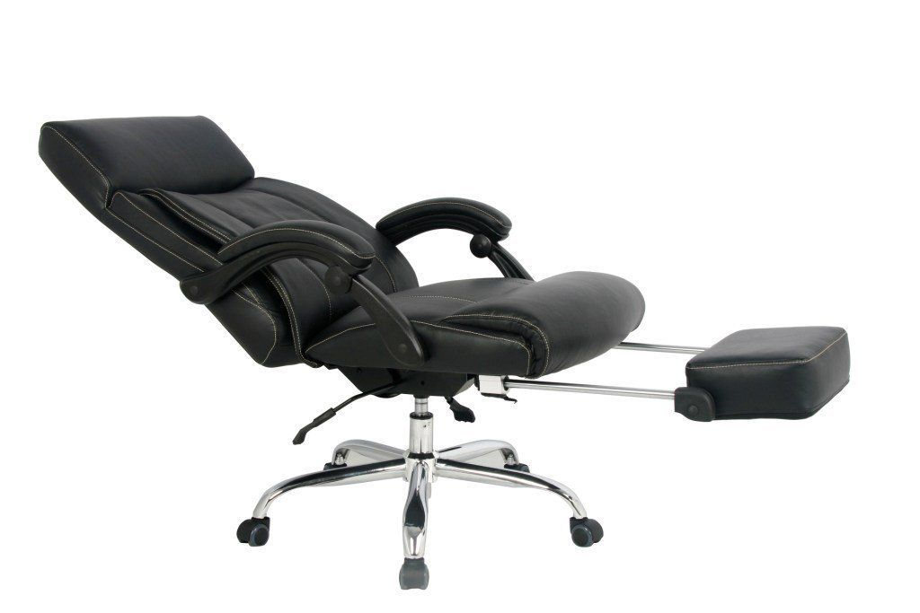 Viva Office High Back Bonded Leather Reclining Office Chair with Footrest