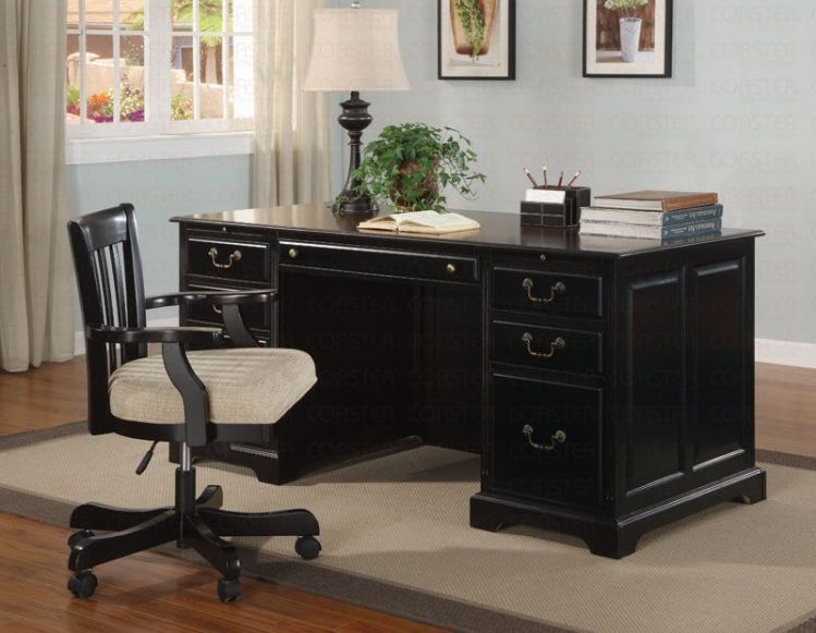 Black Executive Desk Home Office Furniture Office Furniture